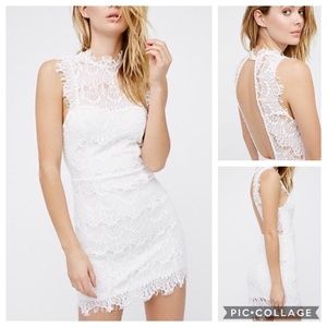 NWOT Free People Open Back Intimately White Lace